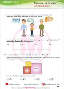 8 Sınıf Lgs Matematik Test Deneme Sınavları Pdf Zor Sorular